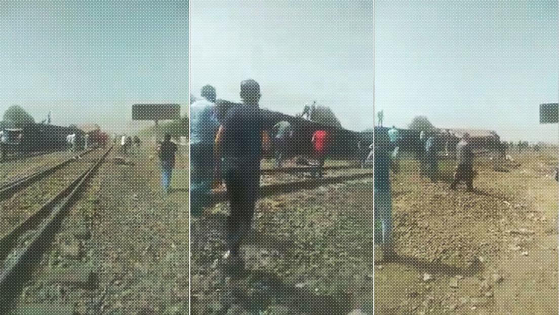 Al menos 11 muertos y 98 heridos tras descarrilarse un tren en Egipto