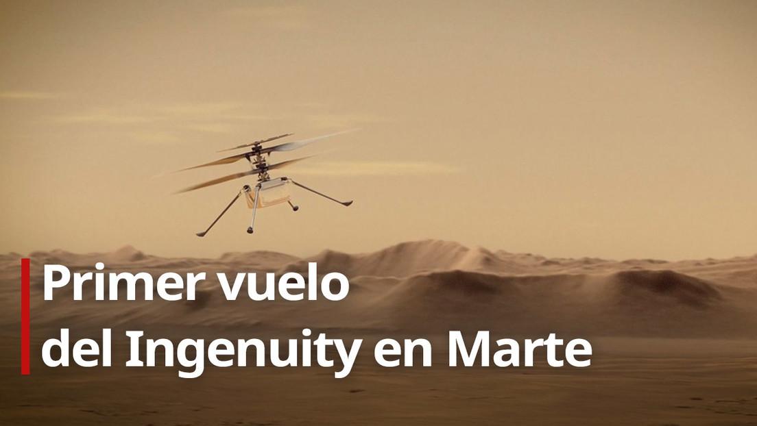 La primera aeronave que sobrevuela otro planeta: el helicóptero Ingenuity de la NASA realiza su primer vuelo en Marte (VIDEO)