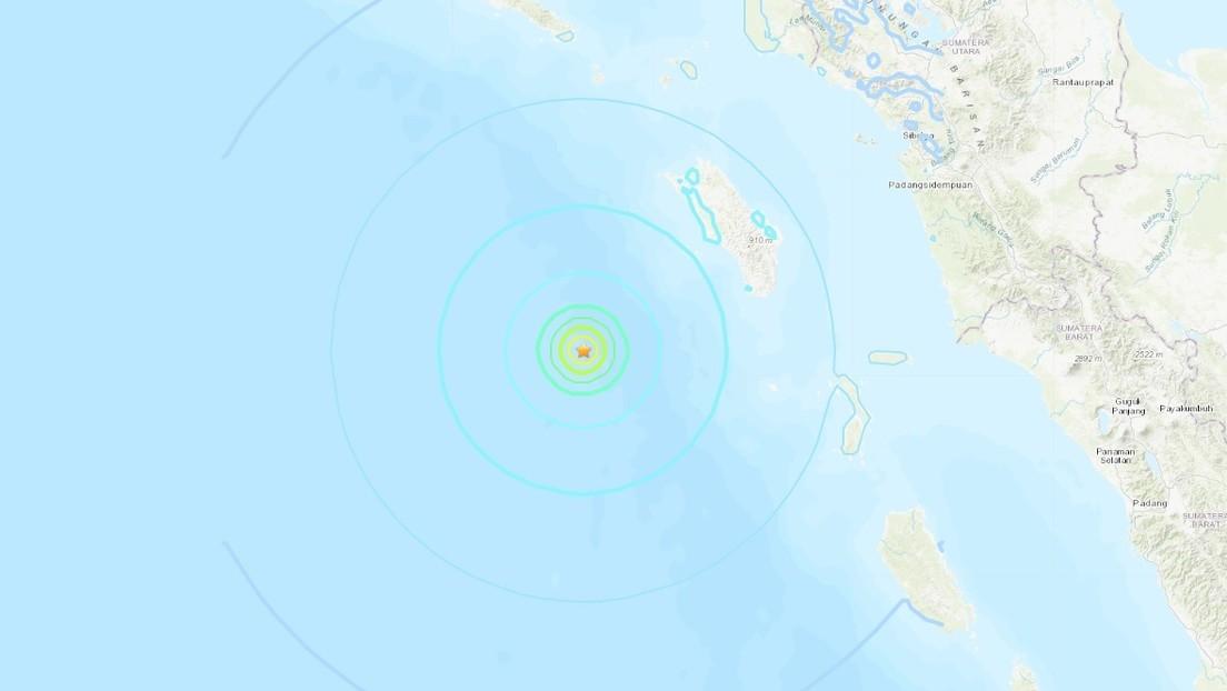 Un terremoto de magnitud 6,0 se registra frente a las costas de Indonesia
