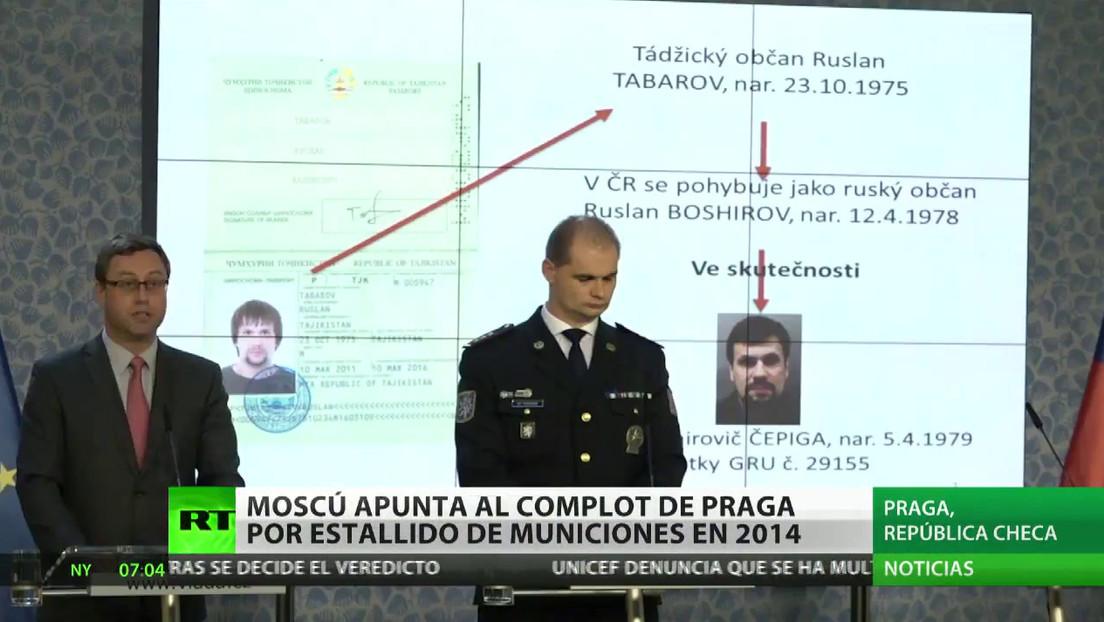 """Moscú apunta a """"la negligencia y la conspiración"""" de Praga por los estallidos de municiones en 2014"""