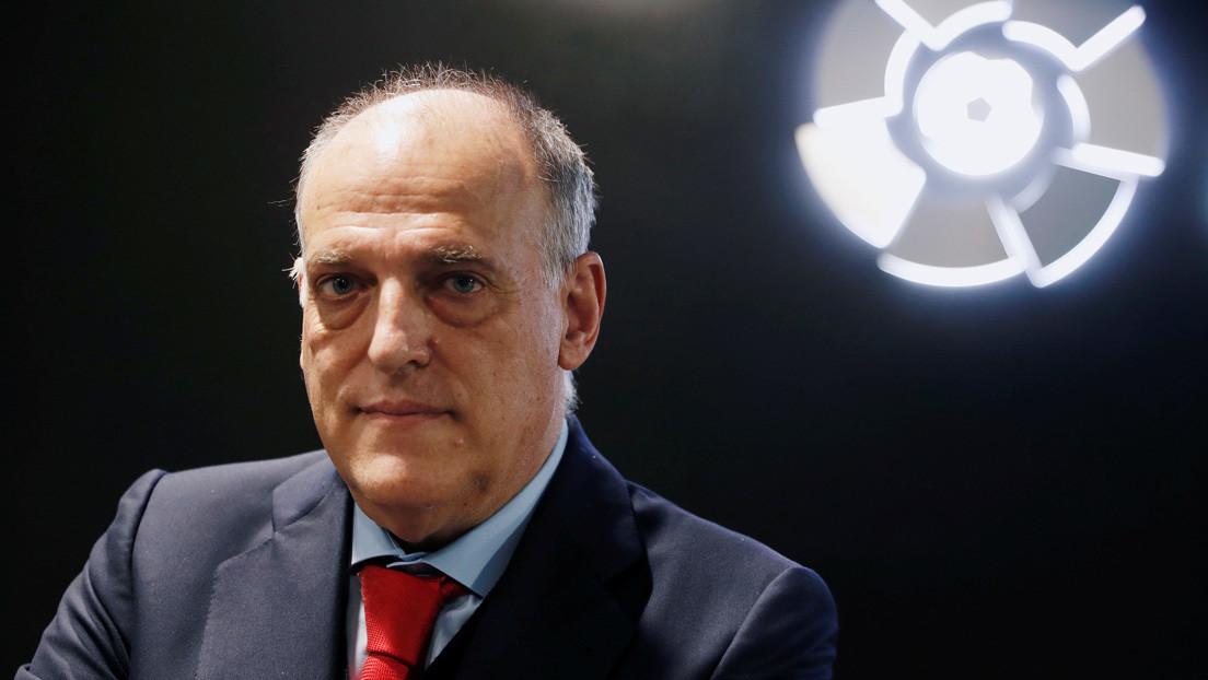 """Javier Tebas: """"La Superliga europea es la muerte del fútbol y el presidente del Real Madrid está perdido"""""""