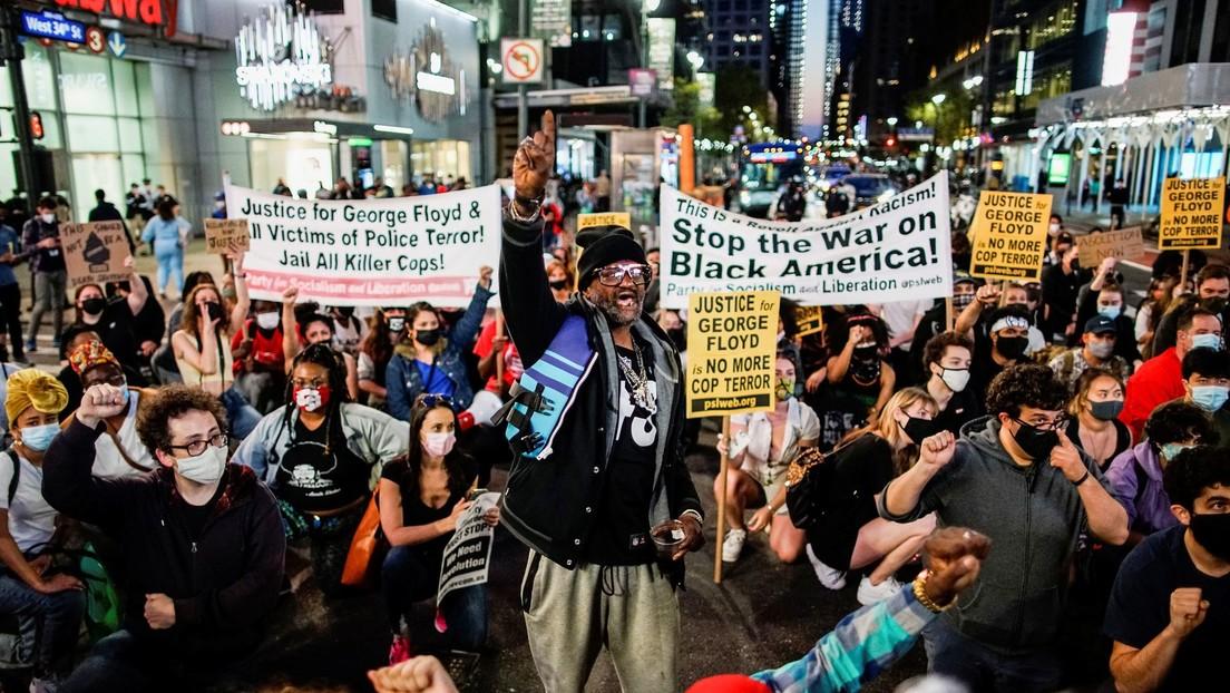 Partidiarios de Black Lives Matter celebran el veredicto contra el expolicia hallado culpable en la muerte de George Floyd (FOTOS, VIDEO)