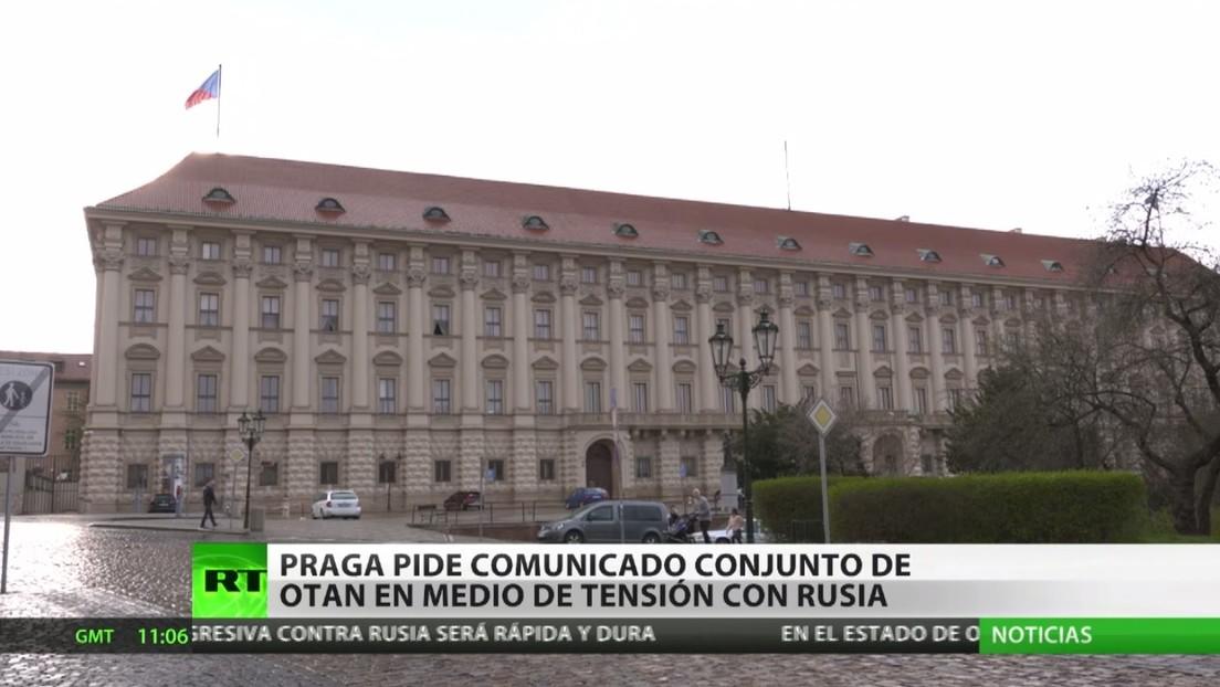 Praga pide una reunión de la OTAN y  un comunicado conjunto en medio de las tensiones diplomáticas con Rusia