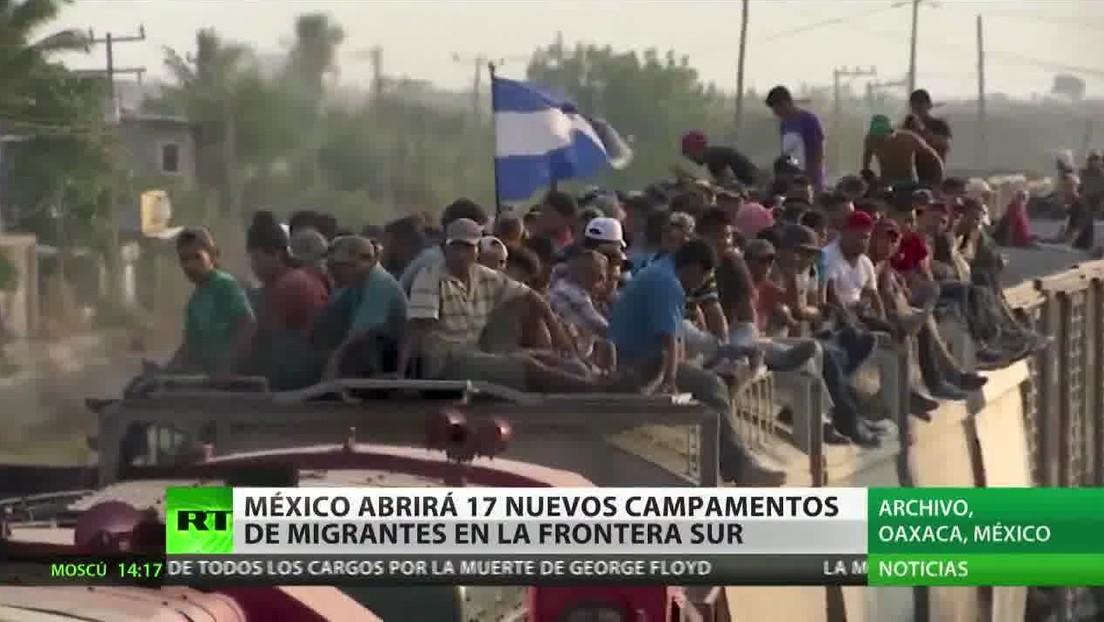 México abrirá 17 nuevos campamentos para migrantes en su frontera sur