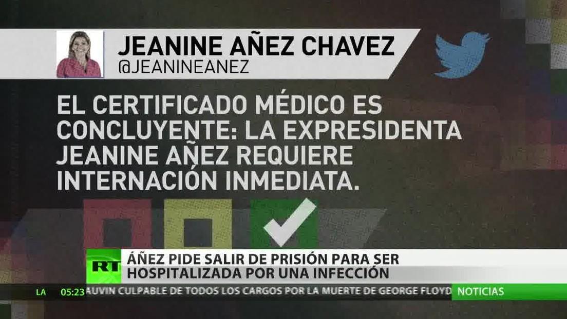 Piden la salida de Jeanine Áñez de prisión para hospitalizarla con urgencia