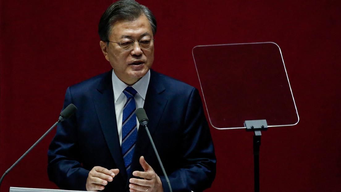 El presidente de Corea del Sur instó a Estados Unidos a iniciar negociaciones con Corea del Norte