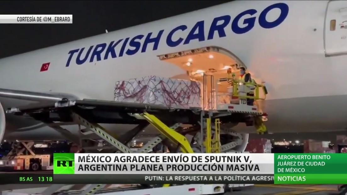 México agradece a Rusia el envío de otro lote de Sputnik V mientras Argentina planea empezar a producir el fármaco ruso en junio de 2021