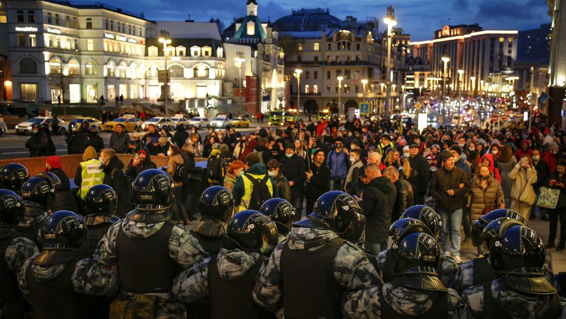 Manifestaciones en varias ciudades de Rusia en apoyo a Alexéi Navalny