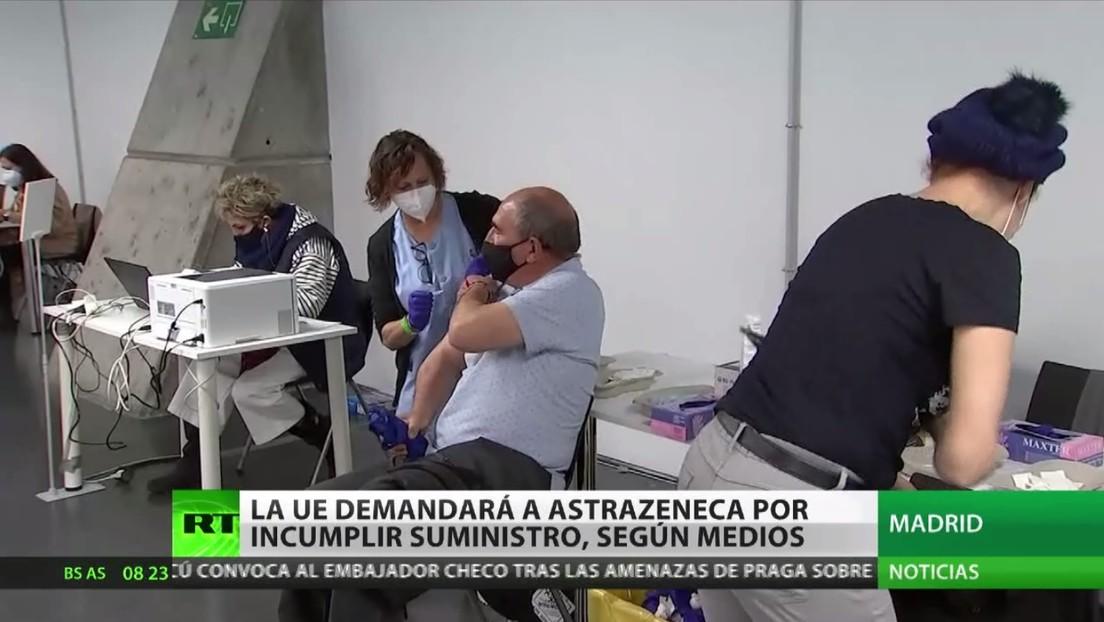 La UE demandará a AstraZeneca por incumplir el suministro de su fármaco obstaculizando así las campañas de vacunación en Europa