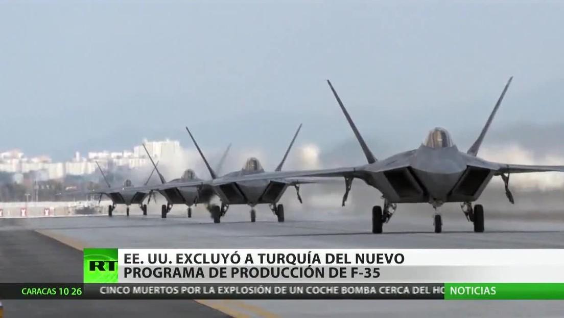 EE.UU. excluye a Turquía del nuevo programa de producción del avión F-35