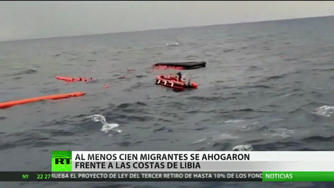 Cerca de 130 migrantes habrían naufragado en el Mediterráneo frente a las costas de Libia