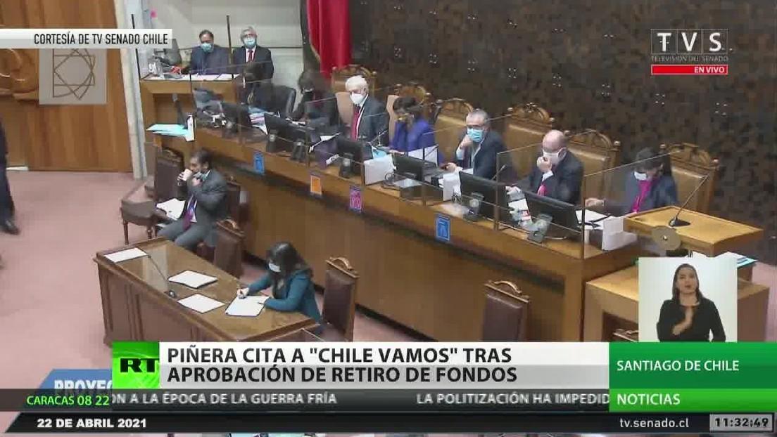 Piñera cita a Chile Vamos después de que el Congreso chileno aprobó un nuevo retiro de fondos