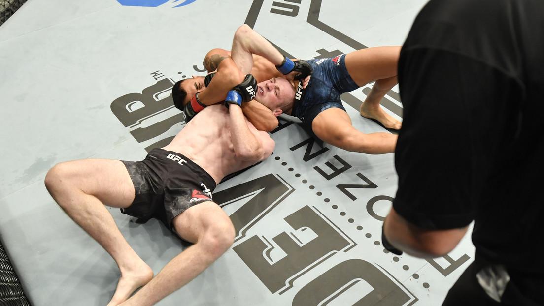 VDEO: Un peleador invicto de MMA gana por nocaut con una poderosa llave anaconda que deja inconsciente a su rival