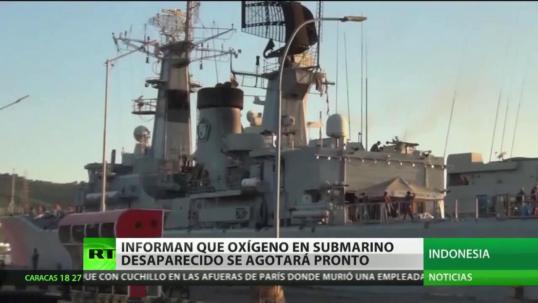 Informan que el oxígeno en el submarino desaparecido en Indonesia se agotará pronto