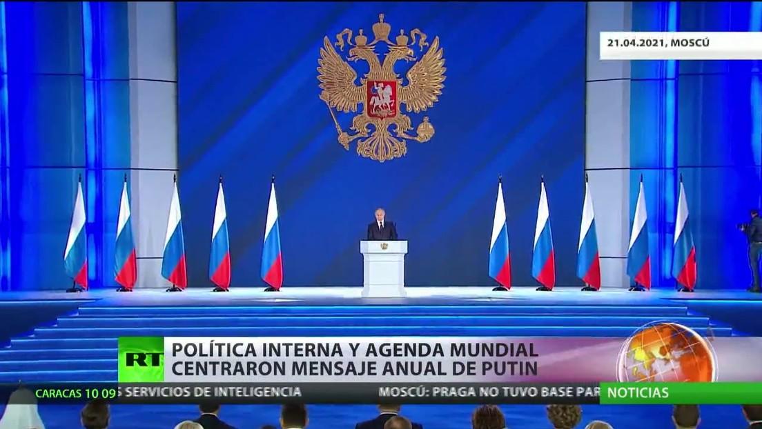 Política interna y agenda mundial centraron el mensaje anual de Putin