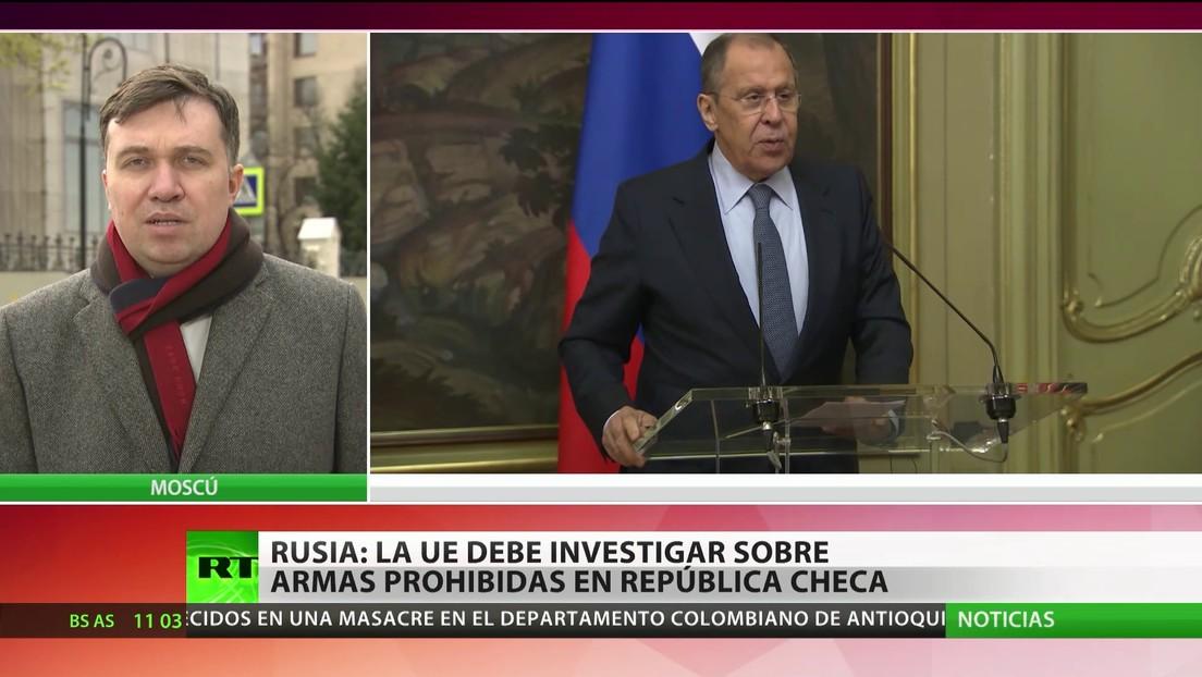 Rusia: La UE debe investigar la presencia de armas prohibidas en la República Checa