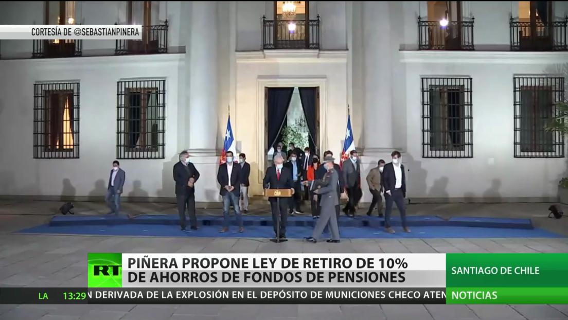 Piñera propone ley de retiro anticipado del 10 % de ahorros del fondo de pensiones en Chile