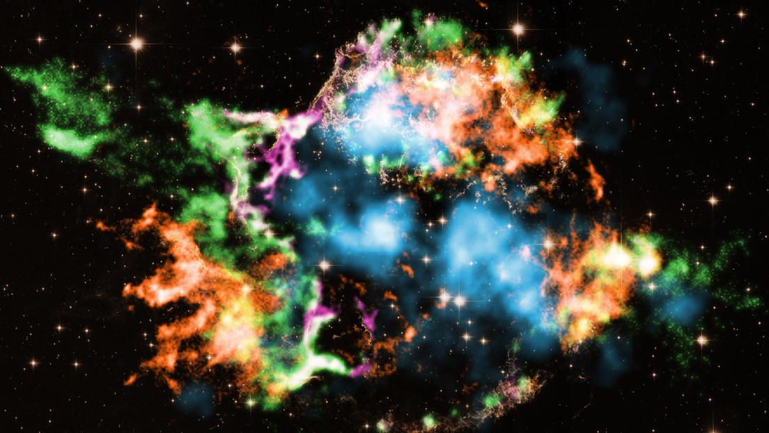 Encuentran burbujas de titanio saliendo de una supernova, lo que ayudaría a resolver el misterio de la explosión de las estrellas