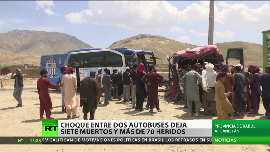 Choque entre dos autobuses deja 7 muertos y más de 70 heridos en Afganistán