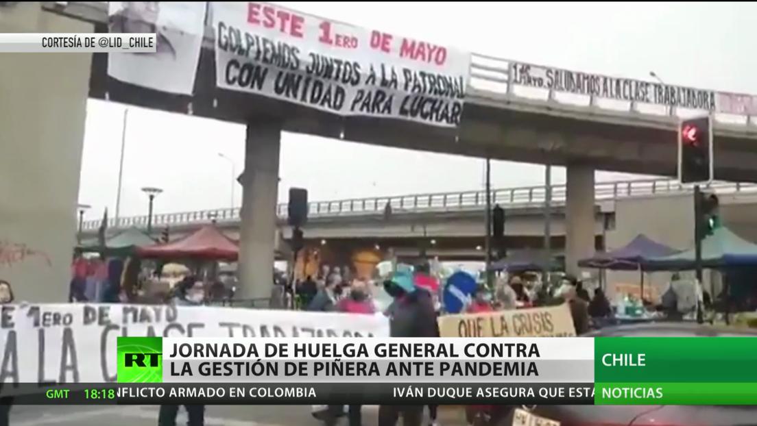Chile vive una jornada de huelga general contra la gestión de Piñera ante la pandemia de covid-19