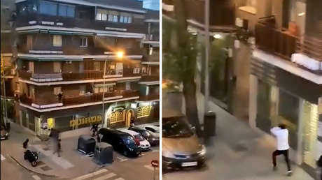 VIDEO: Dos bandas latinas se enfrentan en medio de disparos en una calle de Madrid