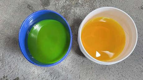 ¿Qué causa que el mismo líquido se vea de distintos colores en los cubos? : un usuario de redes sociales da una respuesta