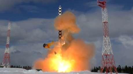 Putin anuncia que el Sarmat, el misil intercontinental más potente del mundo, entrará en servicio en 2022