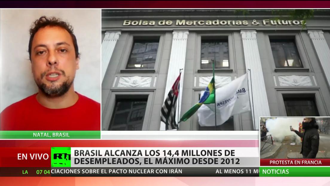 Brasil alcanza los 14,4 millones de desempleados, su nivel máximo desde 2012