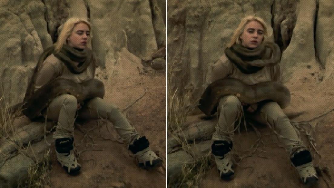 Billie Eilish aparece en su nuevo videoclip con una anaconda enroscada en el cuello (y a muchos no les parece un efecto especial)