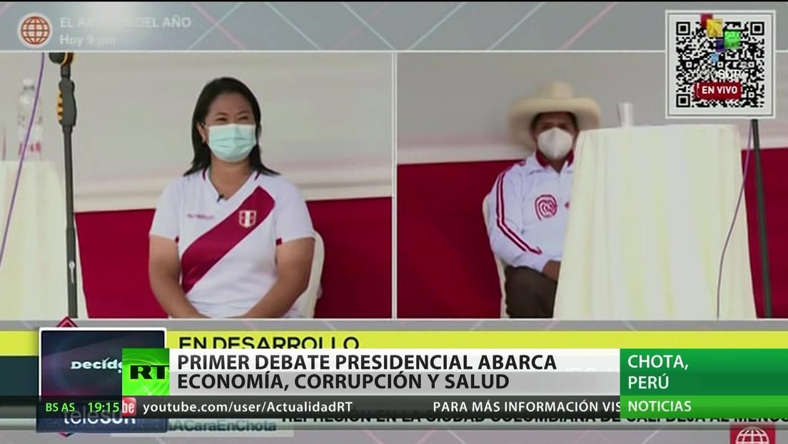El primer debate presidencial de Perú aborda economía, corrupción y salud