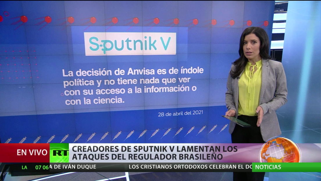 Los creadores de la vacuna Sputnik V contra el covid-19 lamentan los ataques del regulador brasileño
