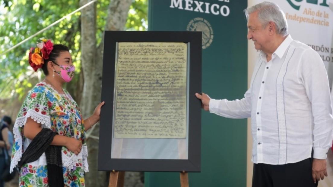 """López Obrador pide perdón al pueblo maya por los """"terribles abusos"""" que sufrieron desde la Conquista española"""