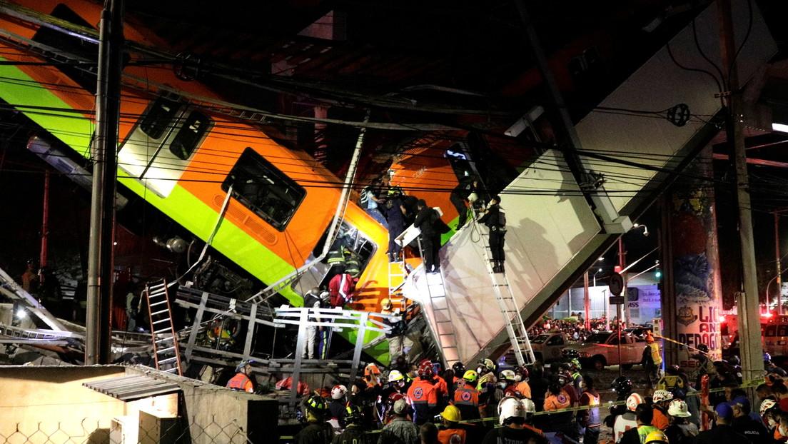 VIDEO: Al menos 15 muertos y cerca de 70 heridos en desplome de un puente del metro en Ciudad de México