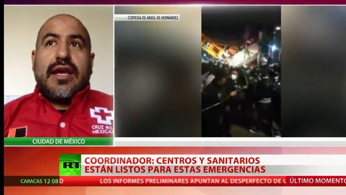 Coordinador de la Cruz Roja: Los hospitales de Ciudad de México están listos para acoger a los heridos por el desplome del puente del metro