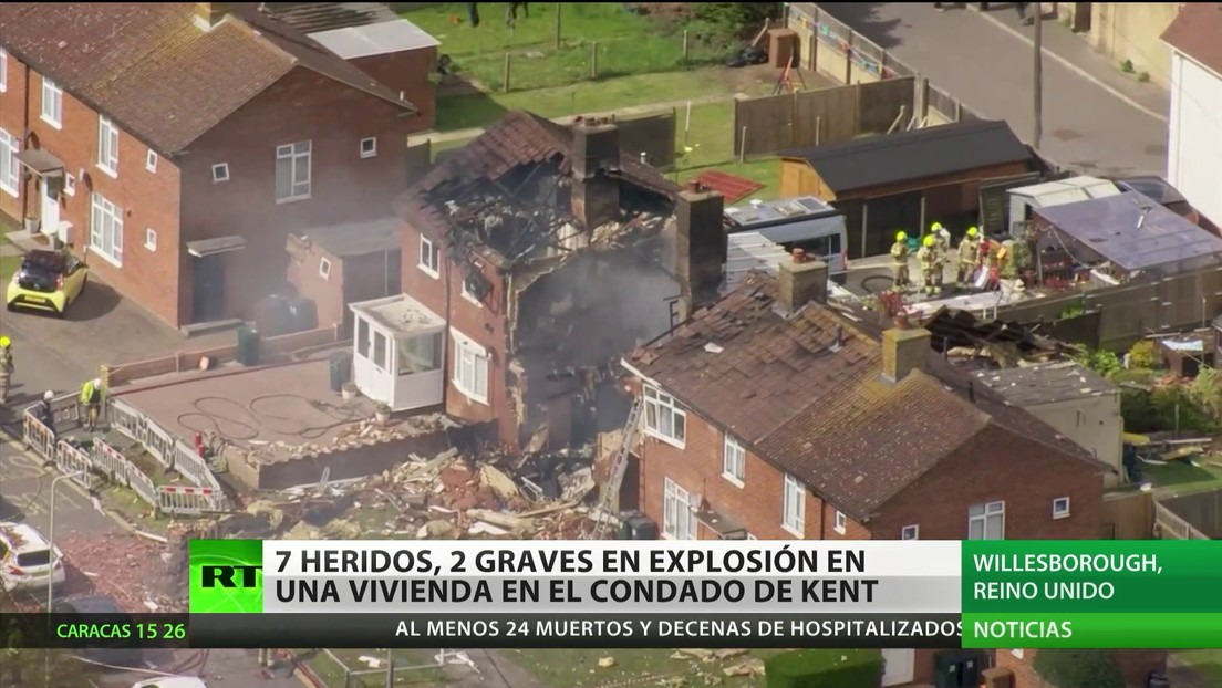 Siete personas heridas tras una explosión en una vivienda en el Reino Unido