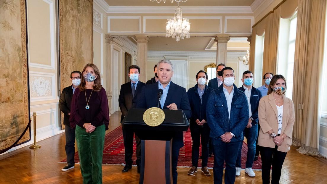 """Duque defiende a la fuerza pública tras denuncias de violenta represión de las protestas y promete abrir un """"espacio para escuchar a la ciudadanía"""""""