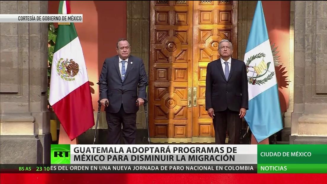 Guatemala adoptará programas de México para disminuir la migración