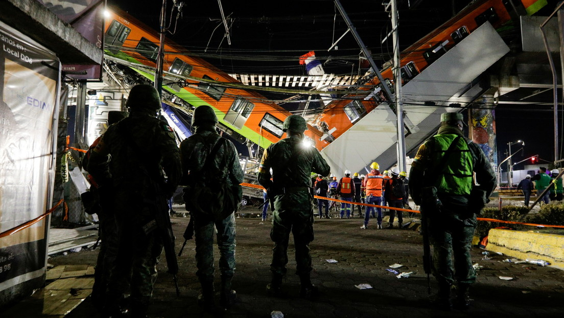 Sube a 25 el número de los muertos a causa del desplome de la línea del Metro de Ciudad de México