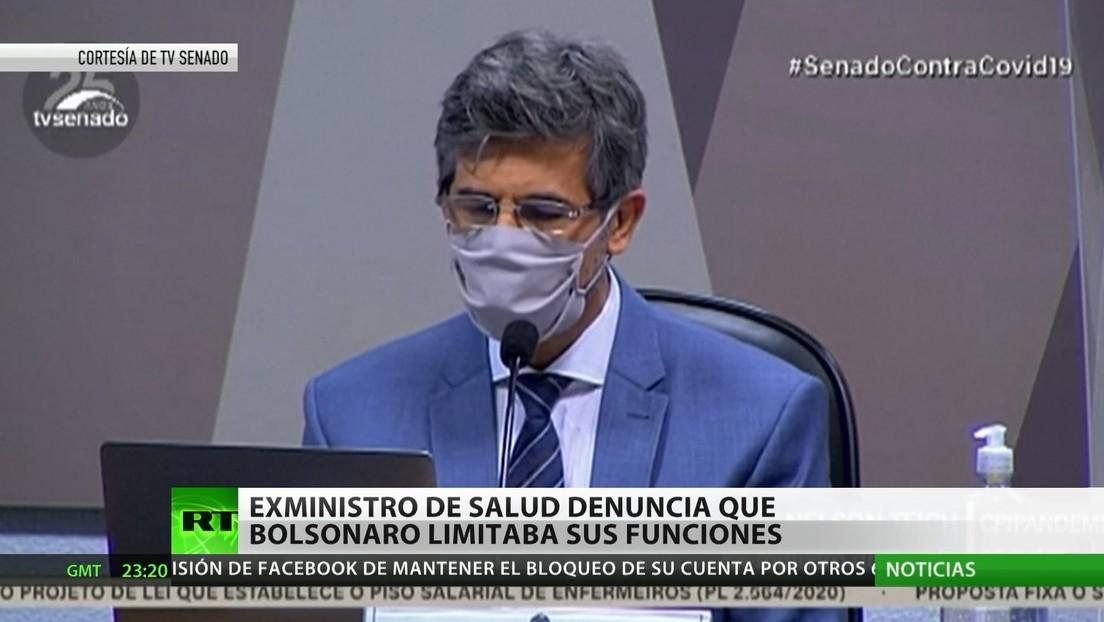 Exministro de Salud de Brasil denuncia que Bolsonaro limitaba sus funciones