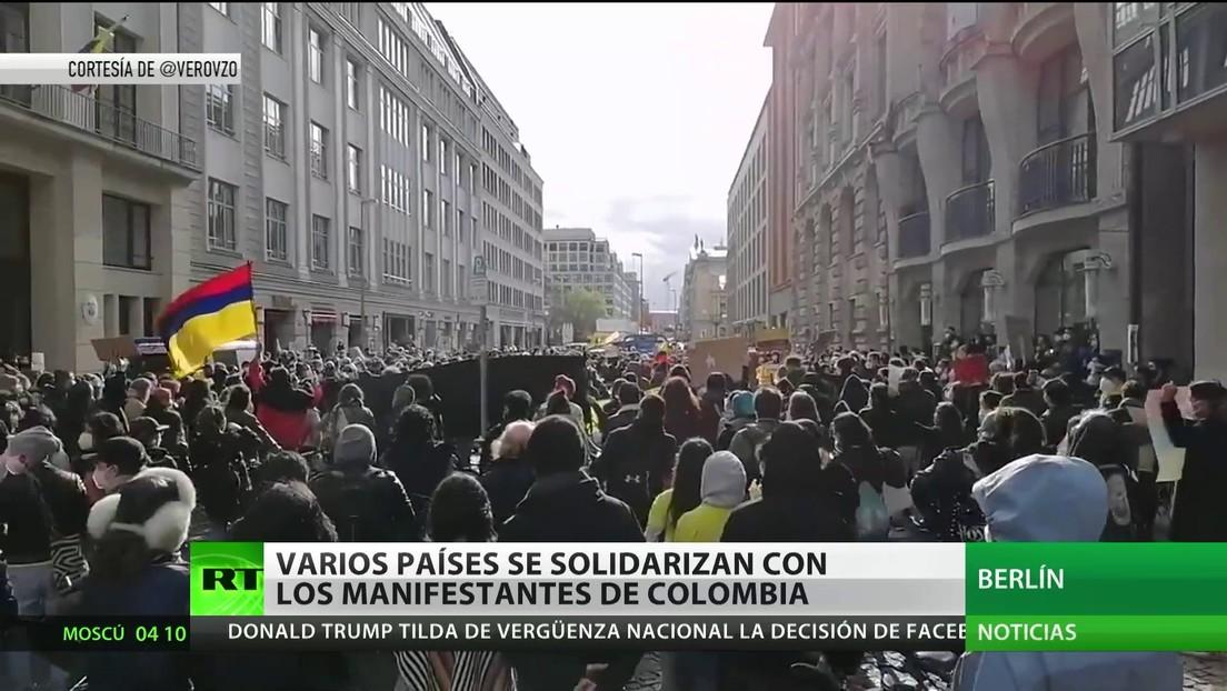 Varios países se solidarizan con los manifestantes de Colombia