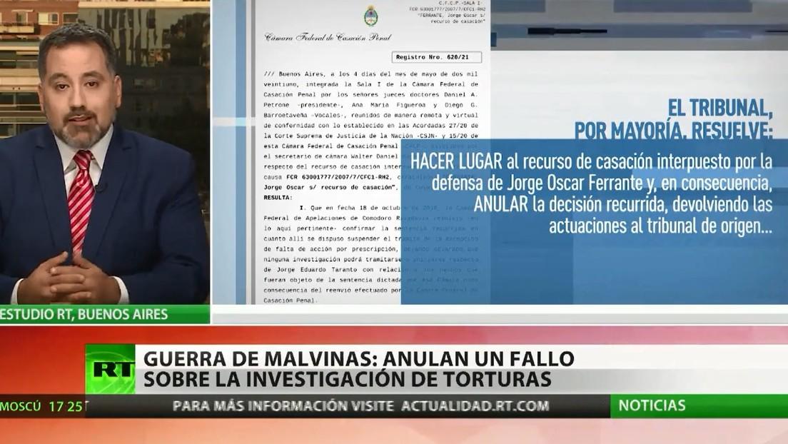Anulan en Argentina un fallo sobre la investigación de torturas durante la Guerra de las Malvinas