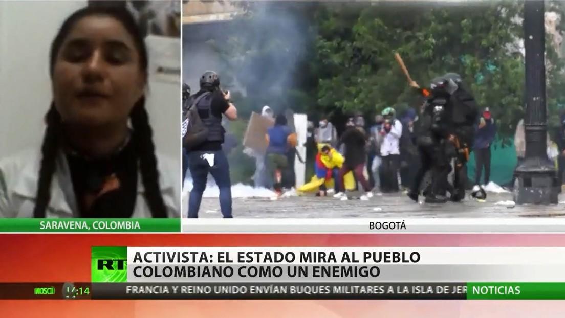"""Activista: """"La doctrina militar colombiana mira al pueblo como un enemigo y le da tratamiento de guerra"""""""