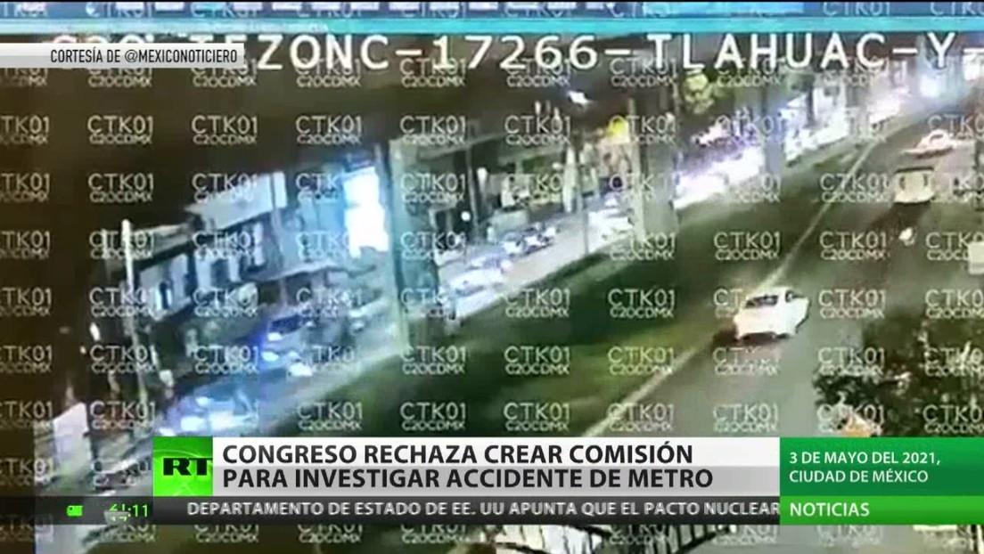 Congreso de México rechaza crear comisión para investigar accidente del metro