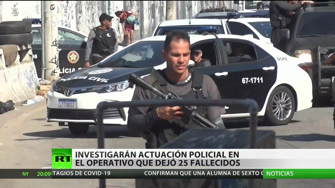 Investigarán actuación policial en un operativo contra el narcotráfico que dejó 25 fallecidos en Río de Janeiro