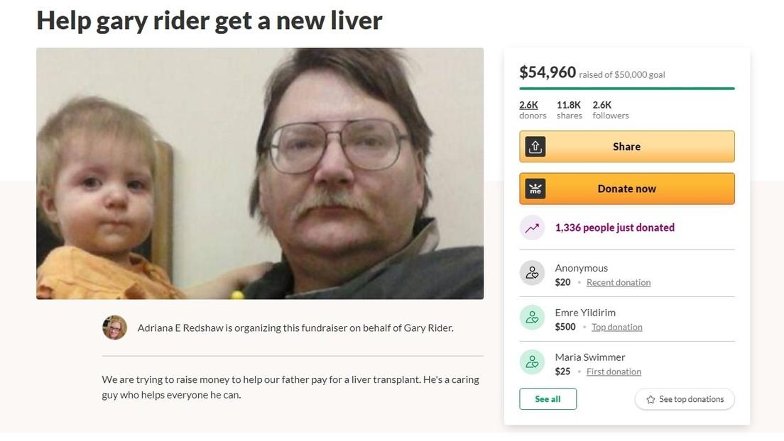 Vende un compresor de aire para pagarse un trasplante de hígado y recibe enormes donaciones de un grupo que se burla de 'boomers' como él