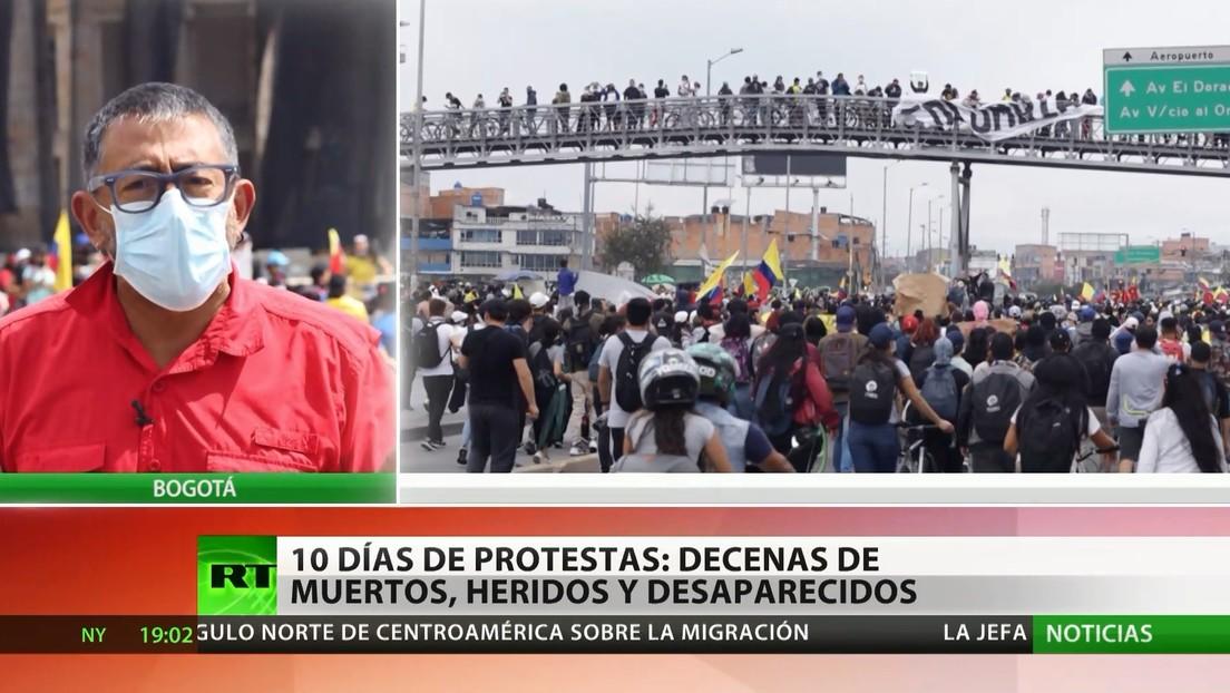 10 días de protestas en Colombia; decenas de muertos, heridos y desaparecidos