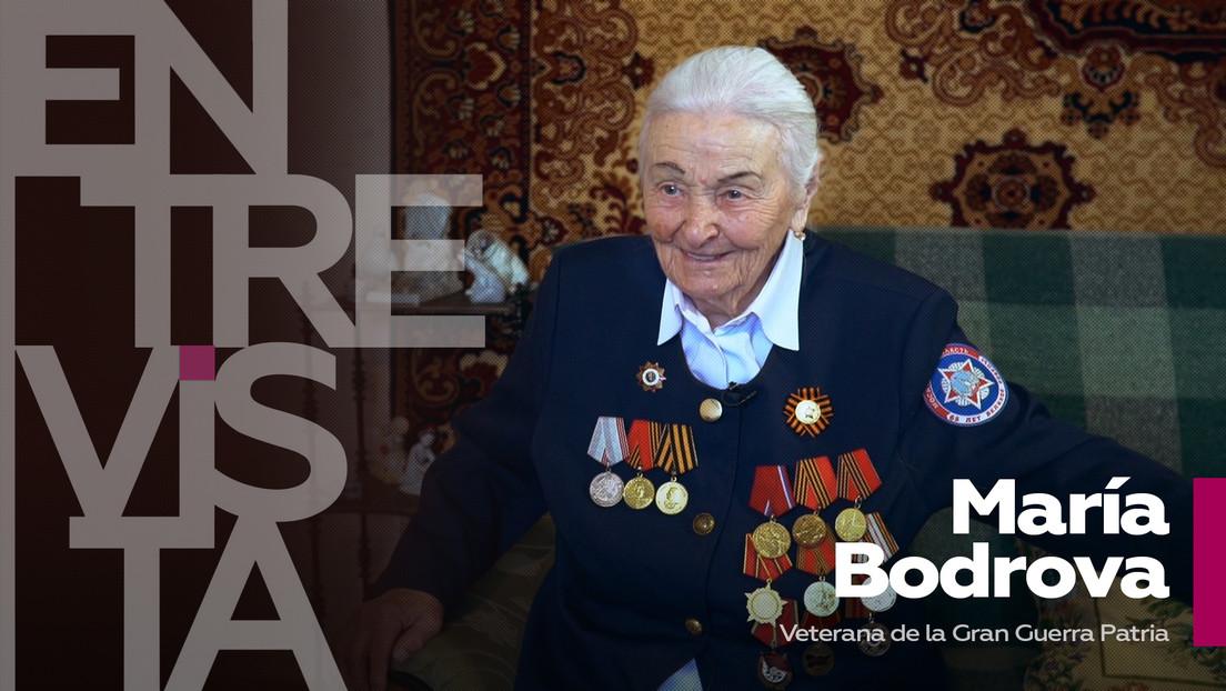 """María Bodrova, veterana de la Gran Guerra Patria: """"Le ponía la mano en la frente a un soldado y, antes de que pudiese agarrármela, fallecía"""""""