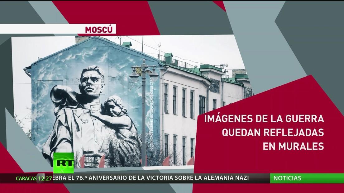 Imágenes de la Gran Guerra Patria quedan reflejadas en murales