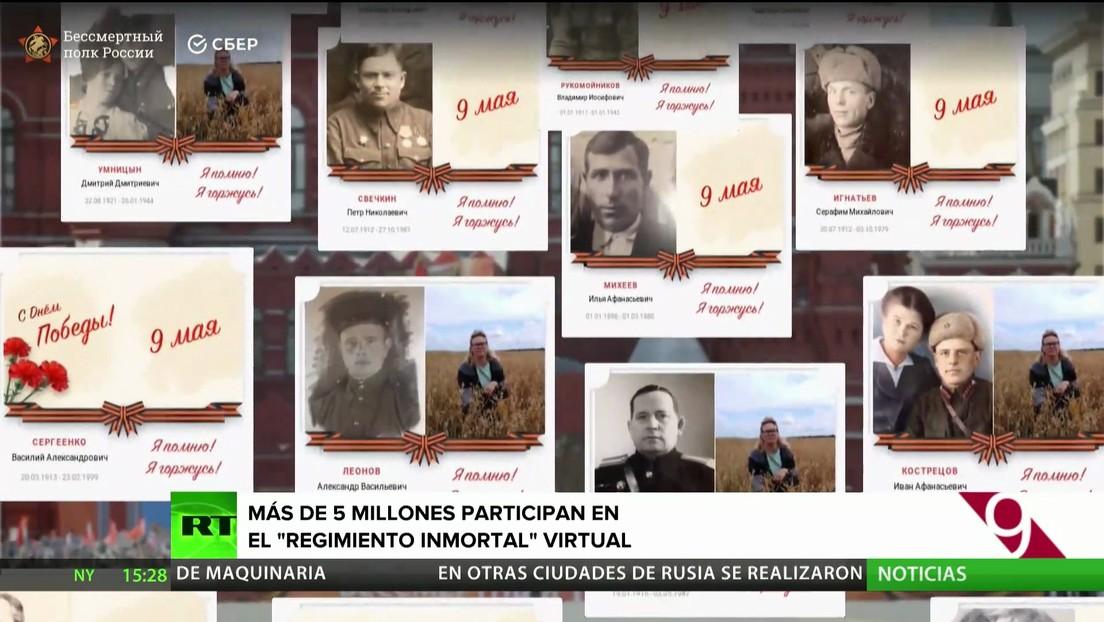 Más de 5 millones de personas participan en el Regimiento Inmortal virtual