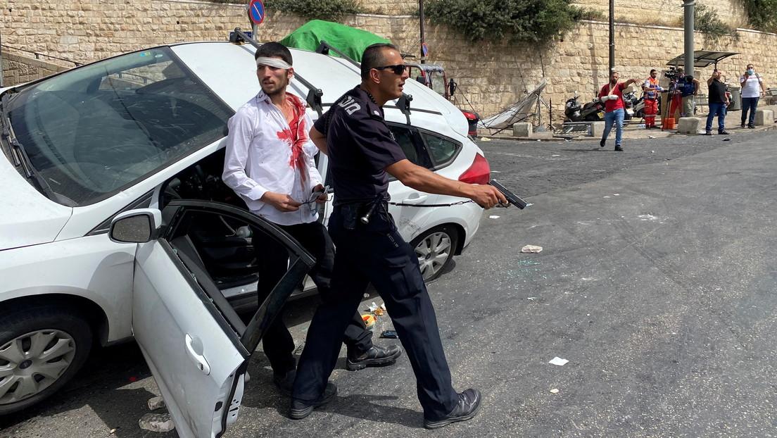 Conductor israelí atropella a un manifestante palestino en medio de los enfrentamientos en Jerusalén (VIDEOS)